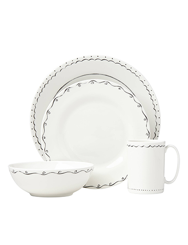 Lenox Kate Spade Union Square Doodle 4 Piece Place Setting