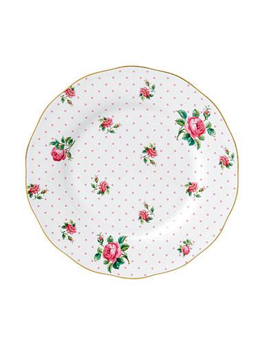 Royal Albert China New Country Roses Cheeky Pink Vintage Salad Plate, Single