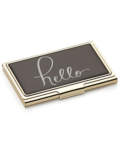 lenox kate spade new york boudoir chic hello business card holder - Kate Spade Business Card Holder