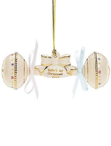 Lenox 2018 Baby's 1st Christmas Rattle Christmas Ornament