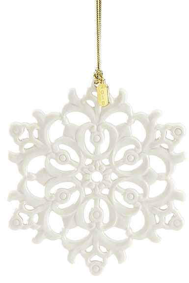 Lenox 2018 Snow Fantasies Snowflake Christmas Ornament