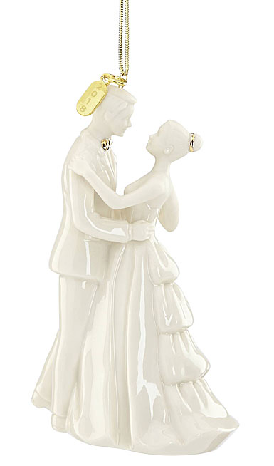 Lenox 2018 Always and Forever Bride and Groom Christmas Ornament