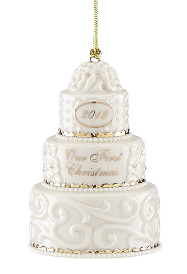 Lenox 2018 Our First Christmas Together Cake Christmas Ornament