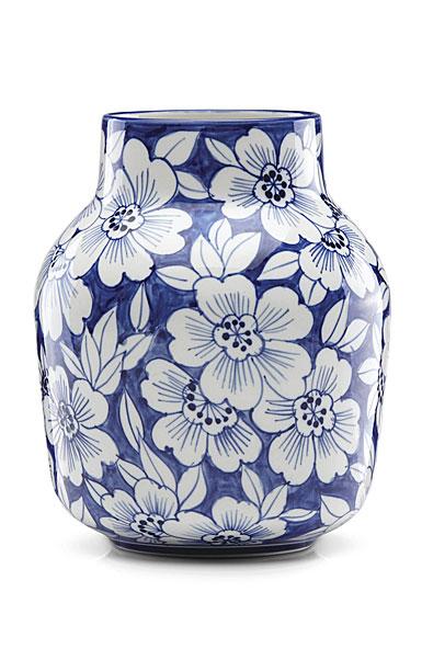 Lenox China Painted Indigo Floral Tapered Vase