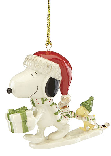 lenox 2018 snoopy holiday gift christmas ornament - Lenox Christmas Decorations