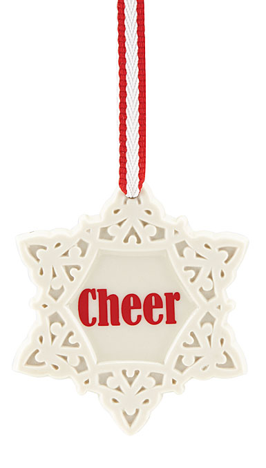 Lenox Cheer Snowflake Christmas Ornament