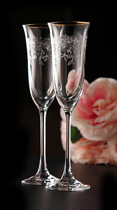 Royal Albert Old Country Roses Flute Pair