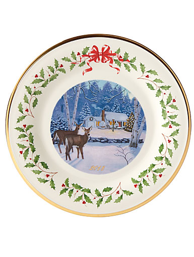 Lenox 2018 Holiday Collectors Plate, 28th Edition - Cabin