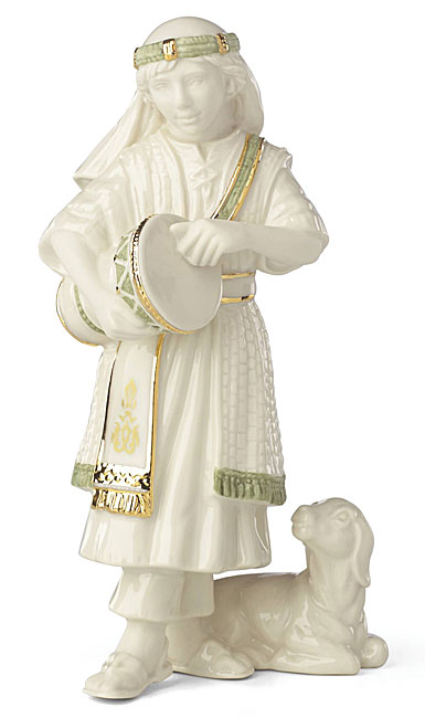 Lenox China First Blessing Nativity Drummer Boy Sculpture