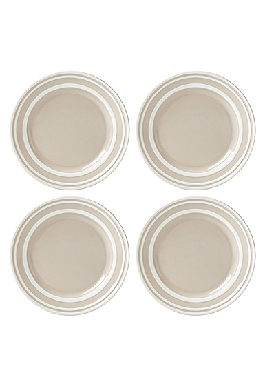 Kate Spade China by Lenox, Sculpted Stripe Beige Accent Plate Set Of Four