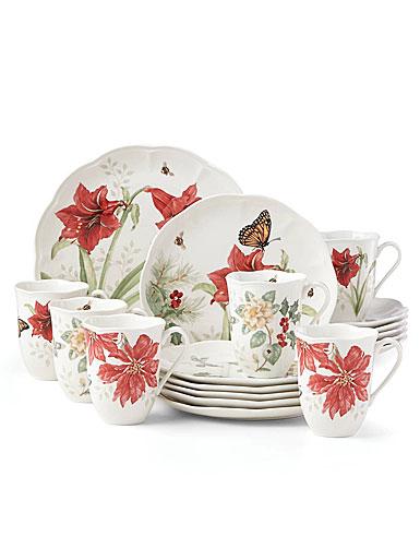 Lenox Butterfly Meadow Holiday Dinnerware 18 Piece Set