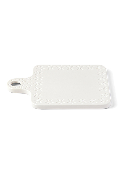 Kate Spade China by Lenox, Stoneware Willow Drive Cream Square Cheese Board
