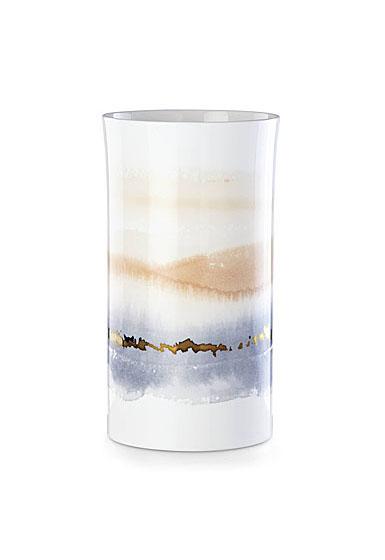 """Lenox Summer Radiance Bone China Cylinder Vase Large 11"""""""
