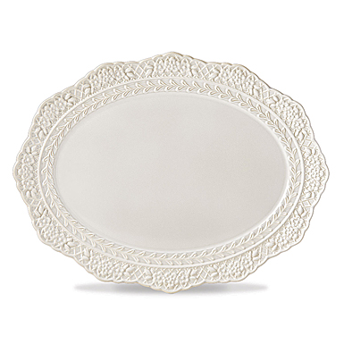 Lenox Chelse Muse Dinnerware Sculp Grey Platter
