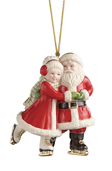 Lenox 2021 Ice Skating Santa and Mrs. Claus Ornament
