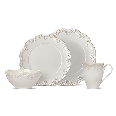 Lenox Chelse Muse Dinnerware Flared Grey 4 Piece Place Setting
