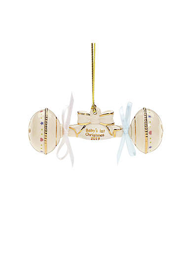 Lenox 2019 Baby's 1st Christmas Rattle Ornament