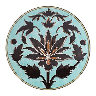 Lenox Global Tapestry Aquamarine Lotus Dinnerware Accent Plate, Single