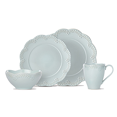Lenox Chelse Muse Dinnerware Flared Blue 4 Piece Place Setting