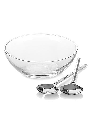 kate spade new york Lenox Gramercy Salad Bowl Set with Metal Servers