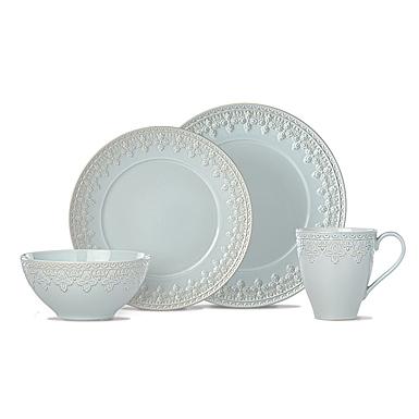 Lenox Chelse Muse Dinnerware Fleur Blue 4 Piece Place Setting
