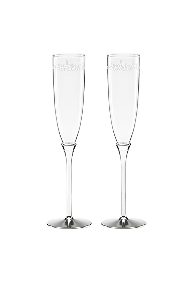 kate spade new york Lenox Key Court Toasting Flutes, Set of 2