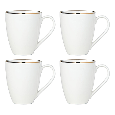 Lenox Trianna White Dinnerware Mugs Set Of Four