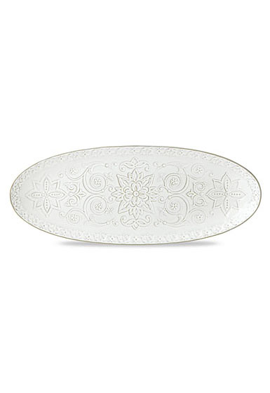 Lenox Global Tapestry Stoneware Oval Server White 21.5""