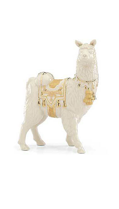 Lenox China First Blessing Nativity Llama Sculpture