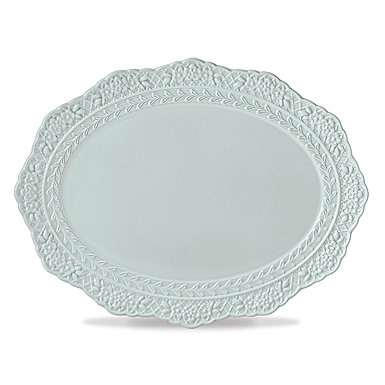Lenox Chelse Muse Dinnerware Rct Blue Scallop Platter
