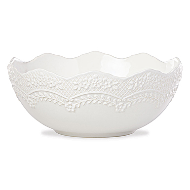 Lenox Chelse Muse Dinnerware Sculp Rct White Serving Bowl