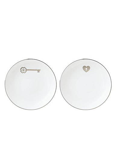 Kate Spade China by Lenox, Key Court Porcelain Key Tidbits, Set of 2
