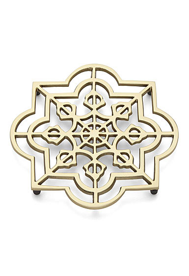"Lenox Global Tapestry Quatrefoil 8"" Metal Trivet"
