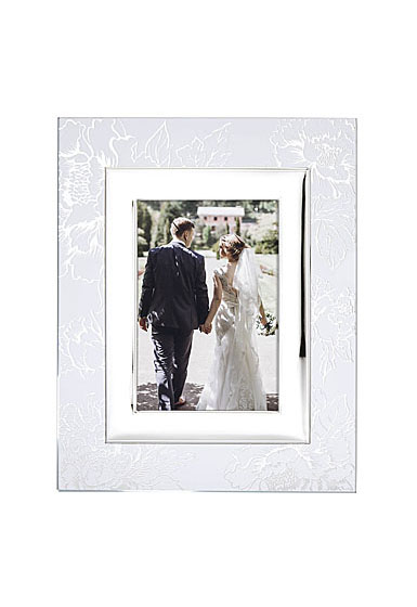 """Lenox Silver Peony Picture Frame 5""""x7"""""""