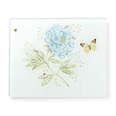 Lenox Butterfly Meadow Dinnerware Glass Prep Board Small