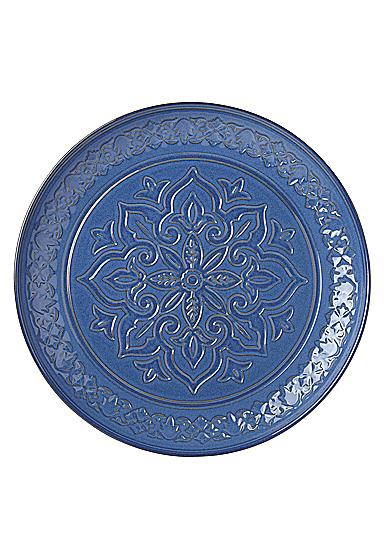 "Lenox Global Tapestry Stoneware Round Server Blue 15"""