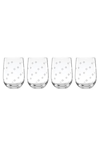Kate Spade New York, Lenox Spade Clover Stemless Wine Glass Set Of Four