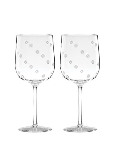 Kate Spade New York, Lenox Spade Clover Wine Glass Pair
