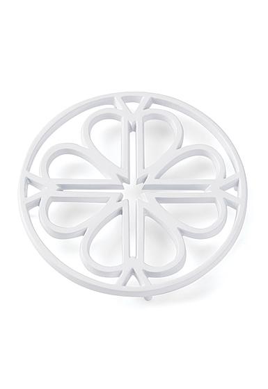Kate Spade New York, Lenox Spade Flower Metal Trivet White