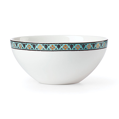 Lenox Global Tapestry Aquamarine Lotus Dinnerware Dip Bowl