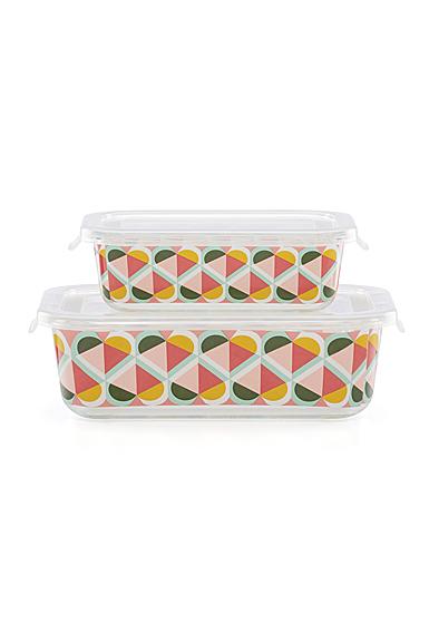 Kate Spade New York, Lenox Geo Spade Rectangular Food Storage Set Of Four