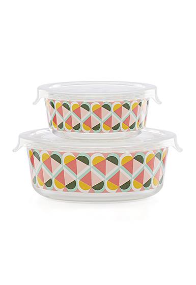 Kate Spade New York, Lenox Geo Spade Round Food Storage Set Of Four