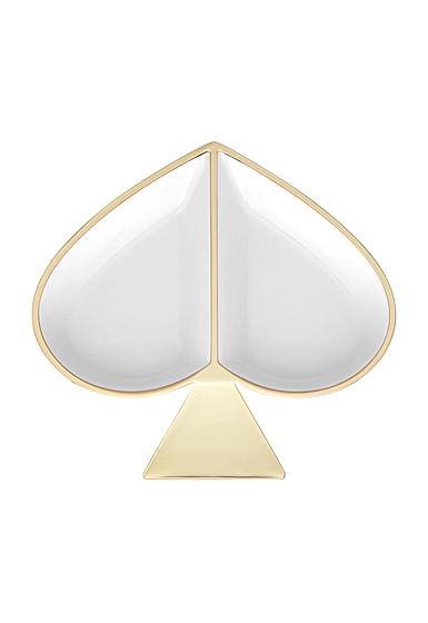 Kate Spade New York, Lenox Spade St Metal Jewelry Dish White