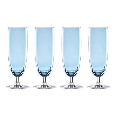 Lenox Valencia Blue Flute Set Of Four