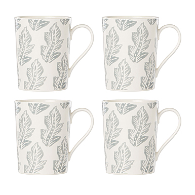 Lenox Textured Neutrals Dinnerware Slate Mug Set Of Four