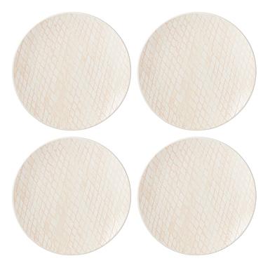 Lenox Textured Neutrals Dinnerware Blush Dinner Place Setting Of Four