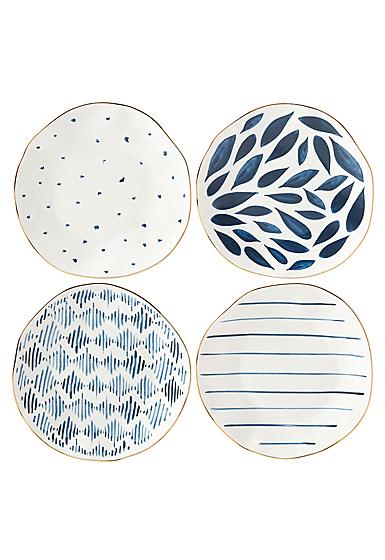 Lenox Blue Bay Dinnerware Dessert Plates Set Of Four