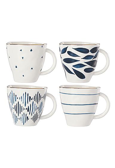 Lenox Blue Bay Dinnerware Dessert Mugs Set Of Four