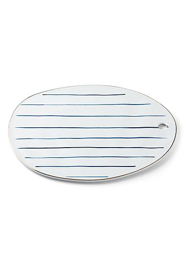 Lenox Blue Bay Stripe Dinnerware Oblong Tray
