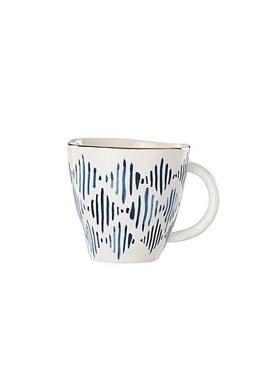 Lenox Blue Bay Ikat Dinnerware Dessert Mug